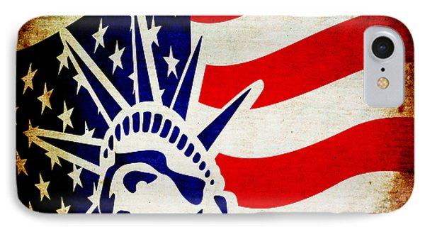 Lady Liberty Keeps Watch Phone Case by Angelina Vick