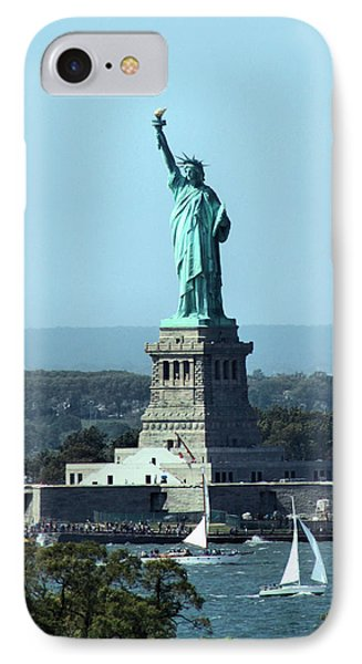 Lady Liberty IPhone Case by Kristin Elmquist