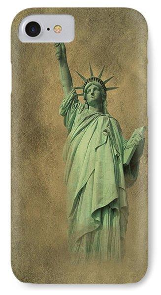 Lady Liberty New York Harbor IPhone Case by David Dehner