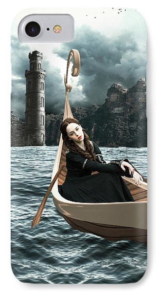 Lady Of Llyn-y-fan Fach IPhone Case by Linda Lees