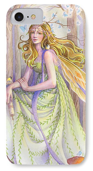 Lady Of The Forest Phone Case by Sara Burrier