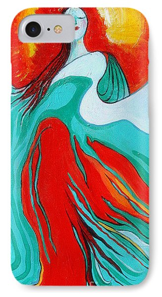 IPhone Case featuring the painting Lady Of Two Worlds by Alison Caltrider