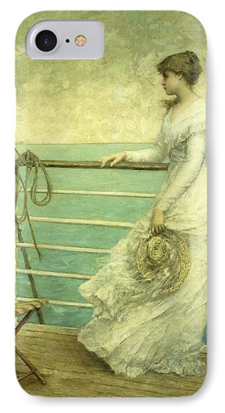 Lady On The Deck Of A Ship  Phone Case by French School