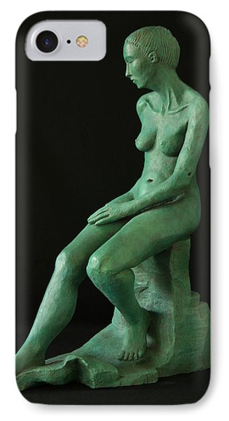 Lady On The Rock Phone Case by Flow Fitzgerald