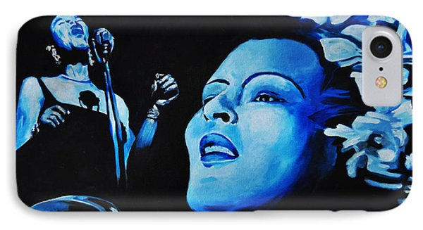 Lady Sings The Blues Phone Case by Ka-Son Reeves
