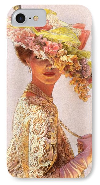 Flowers iPhone 7 Case - Lady Victoria Victorian Elegance by Sue Halstenberg