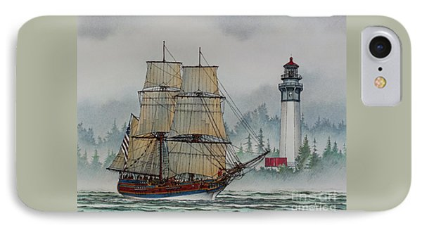 Lady Washington At Grays Harbor Phone Case by James Williamson