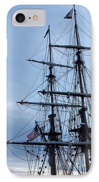 Lady Washington's Masts IPhone Case by Heidi Smith