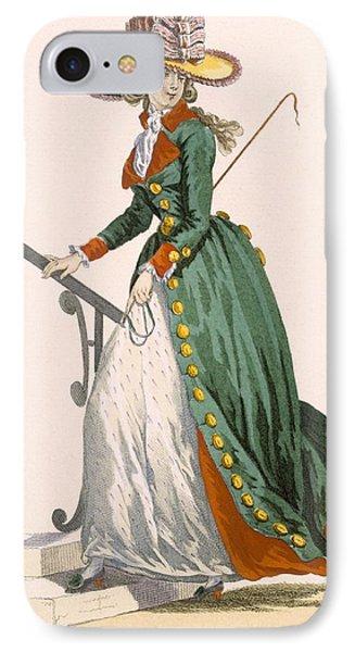 Lady Wearing German Style Riding IPhone Case by Francois Louis Joseph Watteau
