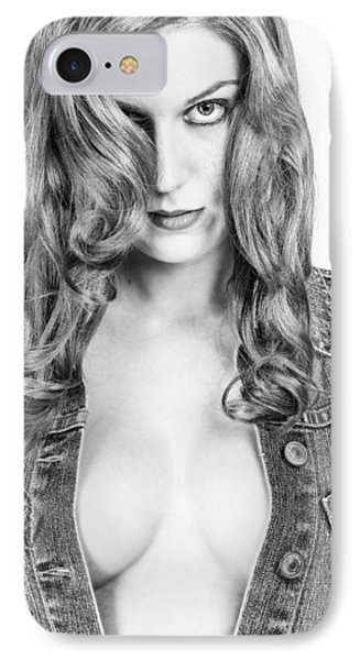 Lady With A Jeans Jacket Phone Case by Ralf Kaiser