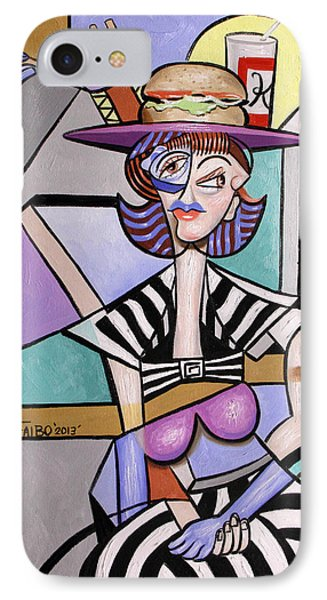Lady With A Lunch Hat Phone Case by Anthony Falbo