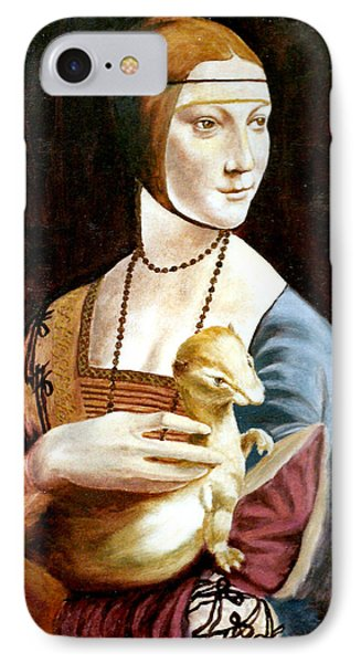 Lady With An Ermine IPhone Case by Henryk Gorecki