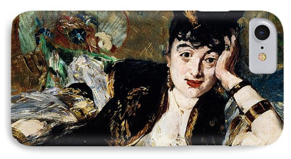 Lady With Fan Portrait Of Marie Anne De Callias Known As Nina De Callias Phone Case by Edouard Manet