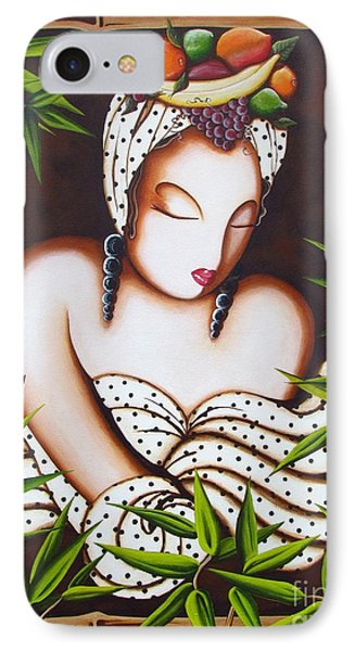 Lady With Fruit IPhone Case by Joseph Sonday