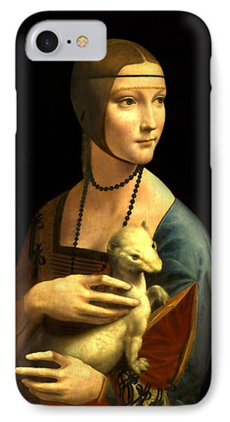 Lady With The Ermine Reproduction IPhone Case by Da Vinci