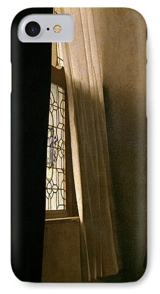 Detail From A Lady Writing A Letter With Her Maid IPhone Case by Jan Vermeer