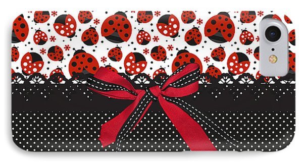 Ladybug Energy  IPhone 7 Case by Debra  Miller