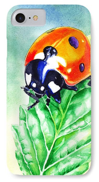 Ladybug Ladybug Where Is Your Home IPhone Case by Irina Sztukowski