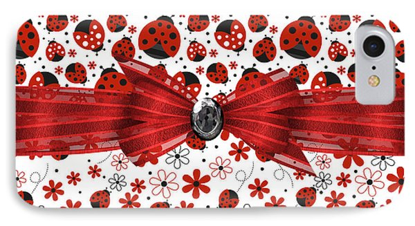 Ladybug Magic IPhone 7 Case by Debra  Miller
