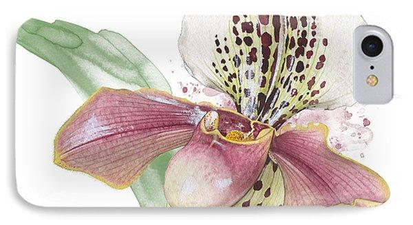 Ladys Slipper - Orchid 14 - Elena Yakubovich IPhone Case by Elena Yakubovich