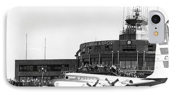 Laguardia Airport In Queens IPhone Case by Underwood Archives
