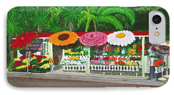 Laguna Beach Flower Stand Phone Case by Mike Robles