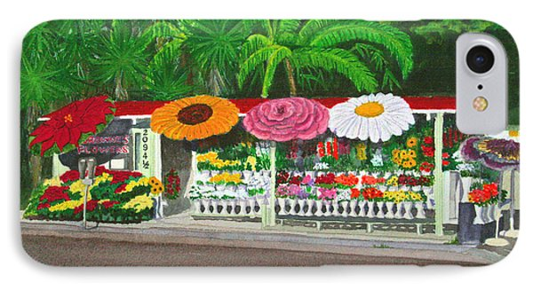 Laguna Beach Flower Stand IPhone Case by Mike Robles