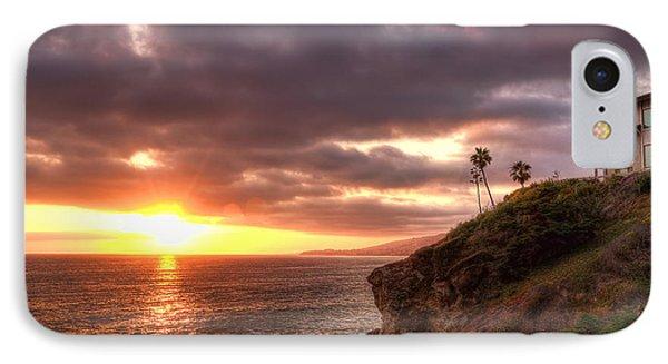 Laguna Beach Sunset Phone Case by Eddie Yerkish