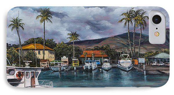 IPhone Case featuring the painting Lahaina Harbor by Darice Machel McGuire