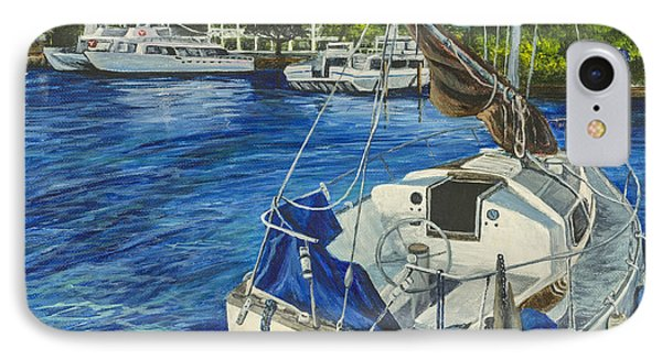 IPhone Case featuring the painting Lahaina Yacht by Darice Machel McGuire