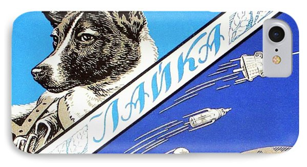 Laika Space Dog Commemorative Packaging IPhone Case by Detlev Van Ravenswaay