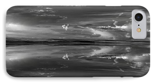 Lake Abert 4 Black And White IPhone Case by Leland D Howard