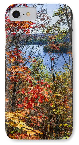 Lake And Fall Forest IPhone Case