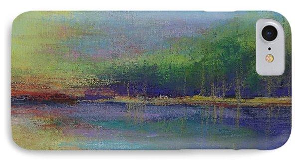 Lake At Sundown IPhone Case by Carol Berning