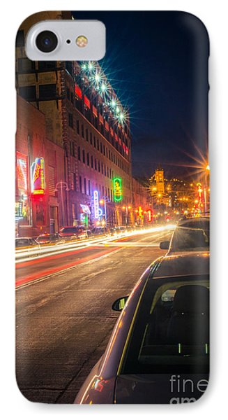 IPhone Case featuring the photograph Lake Avenue Saturday Night by Mark David Zahn Photography