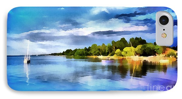 Lake Balaton At Summer IPhone Case by Odon Czintos