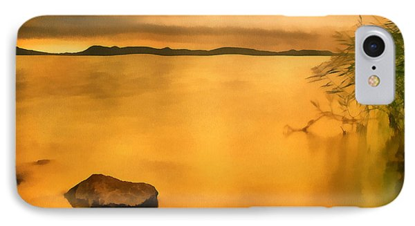 Lake Balaton Sunset Paint IPhone Case by Odon Czintos