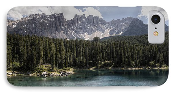 Lake Carezza IPhone Case by Uri Baruch