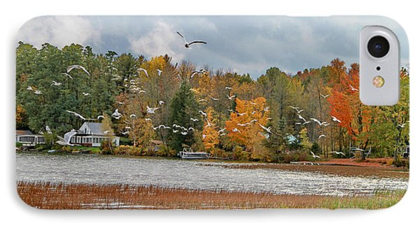 Lake Carmi Autumn 2012 Phone Case by Deborah Benoit