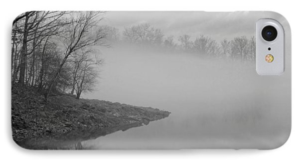 Lake Chatuge Lost In Fog IPhone Case by Kenny Francis