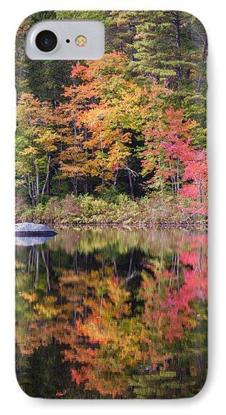 Lake Chocorua Moment Of Reflection IPhone Case by Karen Stephenson