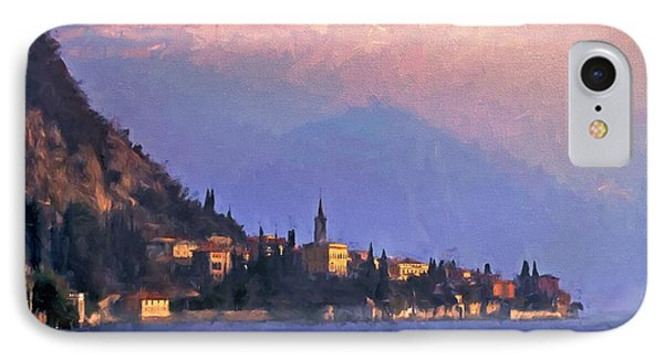 IPhone Case featuring the painting Lake Como Italy by Douglas MooreZart