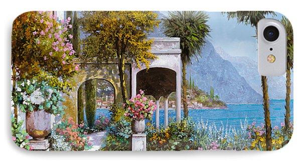 Lake Como-la Passeggiata Al Lago Phone Case by Guido Borelli