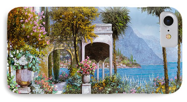 Lake Como-la Passeggiata Al Lago IPhone Case by Guido Borelli