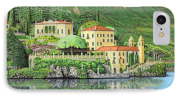 IPhone Case featuring the painting Lake Como Morning by Jane Girardot