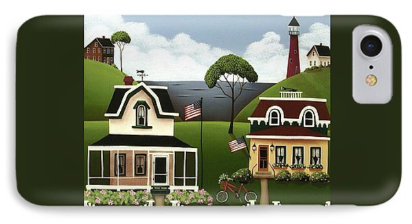 Lake Cottages Phone Case by Catherine Holman