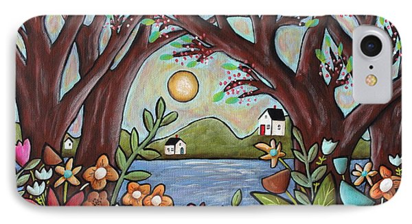 Lake Cottages IPhone Case by Karla Gerard