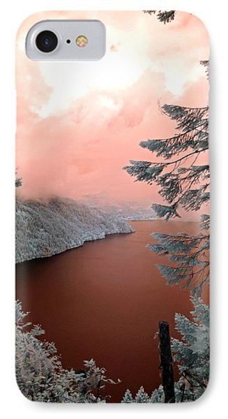 Lake Crescent Light IPhone Case by Rebecca Parker