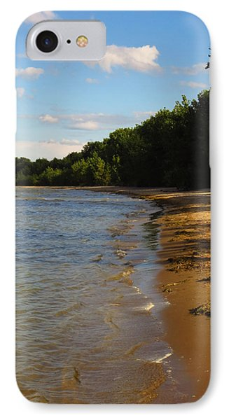 Lake Erie Shore 3 IPhone Case by Shawna Rowe