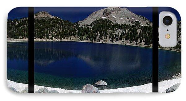 Lake Helen At Mt Lassen Triptych Phone Case by Peter Piatt